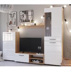Асти Модульная гостиная Дуб бунратти/Белый глянец №8