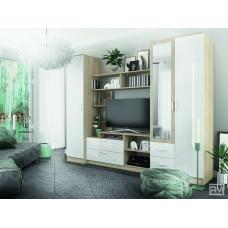Софи Модульная гостиная Дуб сонома/Белый глянец №1