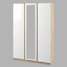 Марли Шкаф Дуб бунратти/Белый глянец МШК 1400.1