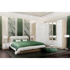 Софи Модульная спальня Дуб сонома/Белый глянец №1