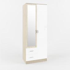 Софи Шкаф Дуб Сонома/Белый глянец СШК 800.3