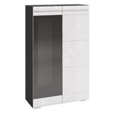 Модульная гостиная Бруклин шкаф со стеклом ШКМ-02