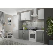 Кухонный гарнитур Гранд 1,5м Белый/Пепел