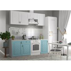Кухонный гарнитур Гранд 2,1м Зеленый/Белый