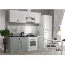Кухонный гарнитур Гранд 2,1м Белый/Пепел