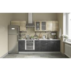 Модульная кухня Лофт 2,6м Бетон темный/Дуб цикорий