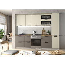 Модульная кухня Ройс 2,3м Ваниль/Грей