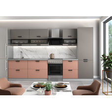 Модульная кухня Ройс 2,8м Грей/Персик