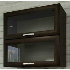 Шкаф верхний горизонтальный со стеклом 50