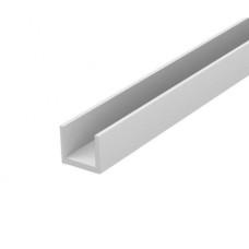 Планка для мебельного щита торцевая 6 мм матовая хромированная 3м
