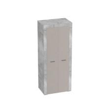 Осло Шкаф для одежды Бетон/Капучино 800*2000мм
