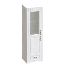 Прованс Шкаф-витрина Бодега белая/Патина премиум 602*1970мм